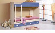 Кровать двухъярусная Крепыш 1,  синий.
