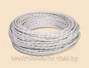 Витой провод для наружной проводки в ретро стиле Mezonin,  белый