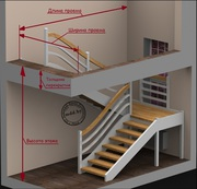 3D проект лестницы с замером. Минск и область.Звоните